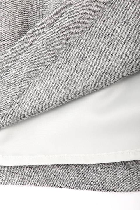 【アナウンサー 宇賀なつみさん 出水麻衣さん 着用】麻調バックル付ラップスカート