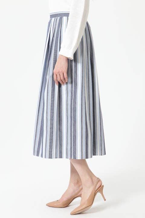 【先行予約 3月上旬-3月中旬入荷予定】ランダムストライプスカート