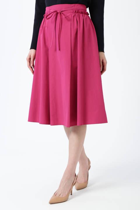 【先行予約 3月上旬-3月中旬入荷予定】タフタサイドギャザースカート