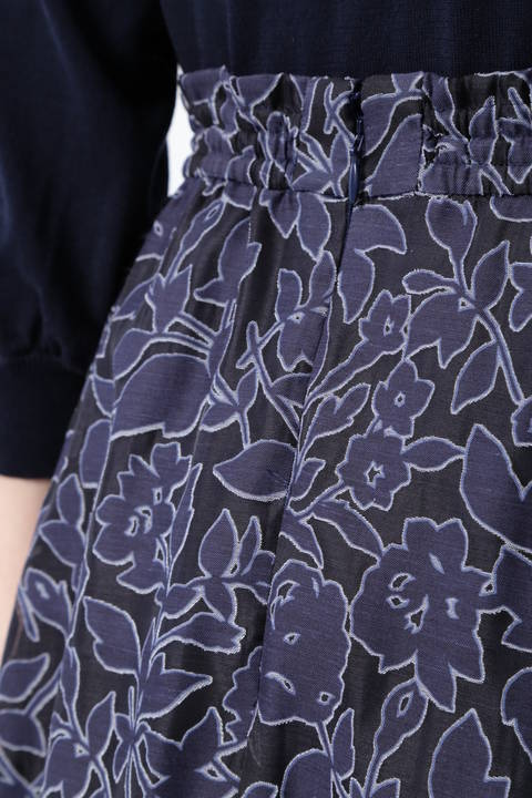 【先行予約 3月下旬-4月上旬入荷予定】シアーフラワーシャーリングスカート