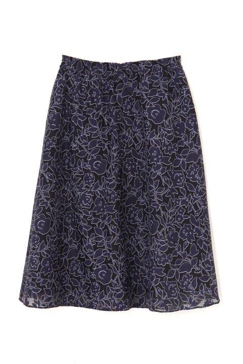 【アナウンサー 出水麻衣さん着用】シアーフラワーシャーリングスカート