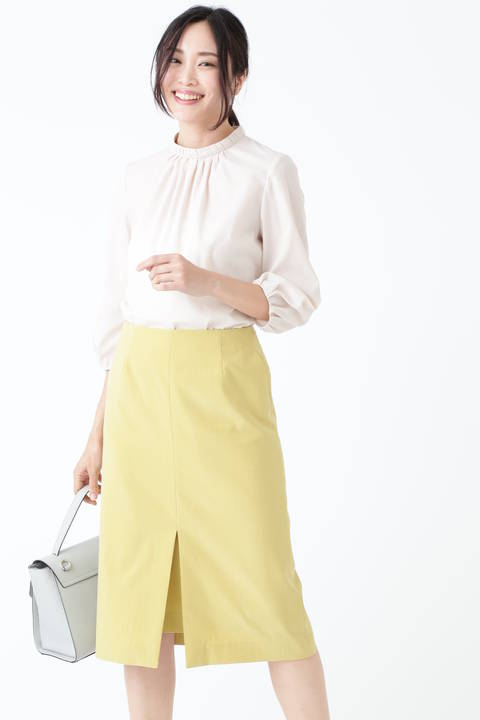 [WEB限定商品]フロントスリットタイトスカート