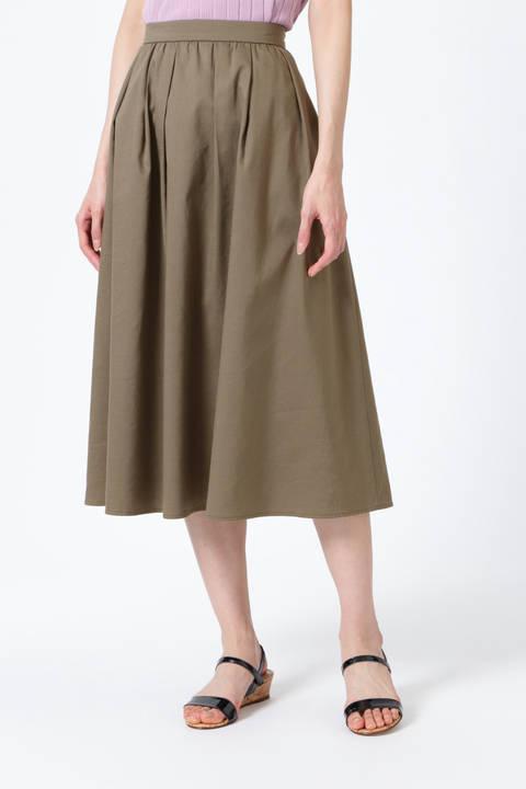 【雑誌 Oggi 5月号掲載】[ウォッシャブル]ツイルミディ丈スカート