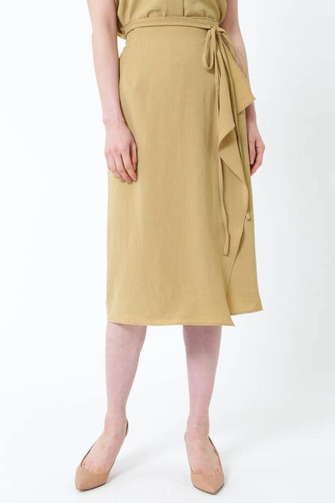 [ウォッシャブル]キョウネンセットアップラップタイトスカート