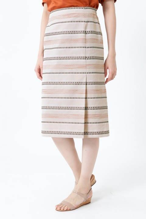 【先行予約 4月下旬-5月上旬 入荷予定】ステッチジャカードタイトスカート