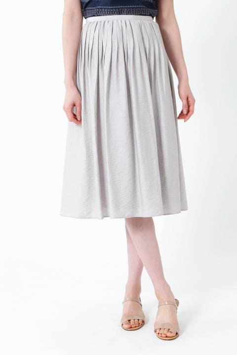 麻混ピンタックセットアップスカート