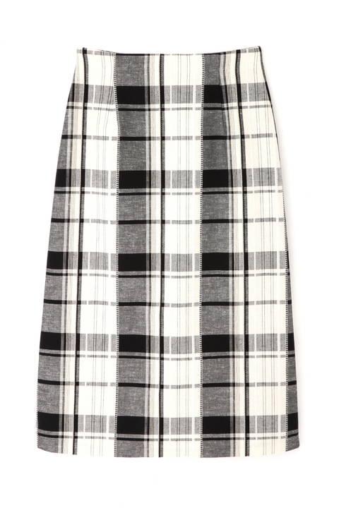 【先行予約 4月下旬-5月上旬 入荷予定】[WEB限定商品]ビッグチェックロングタイトスカート
