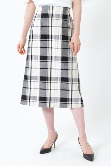 [WEB限定商品]ビッグチェックロングタイトスカート