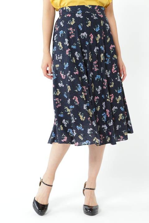 リバティコラボプリントスカート