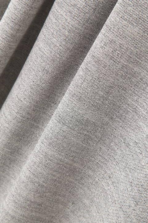 麻調ベルト付タック半袖ワンピース