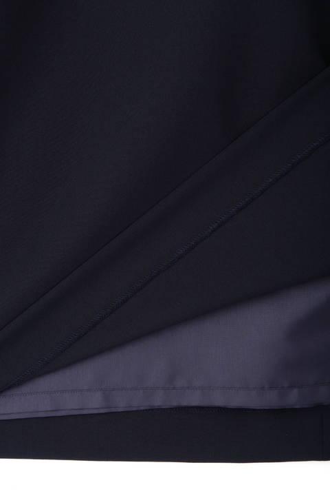 【アナウンサー 小川彩佳さん着用】[ウォッシャブル]ワルツツイルフレアスリーブドロストサックワンピース