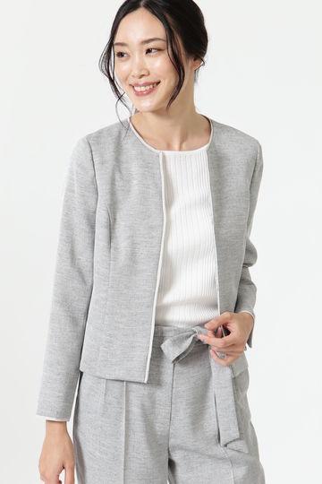 麻調パイピングジャケット