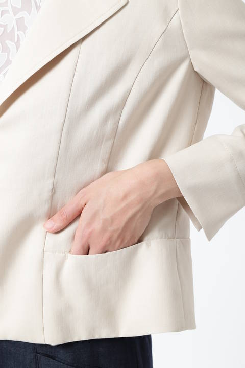 スラブツイルシャツジャケット