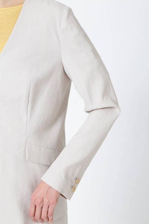 【雑誌 Oggi 5月号掲載】麻混V襟ジャケット