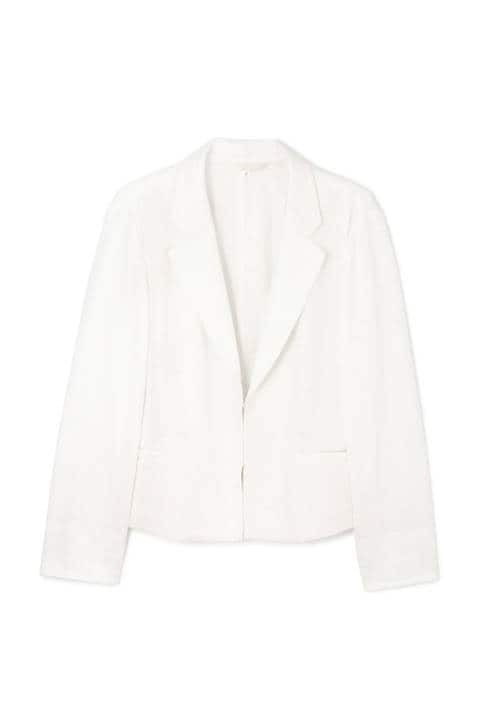 [ウォッシャブル]ミラノリブテーラードボックスシルエットジャケット