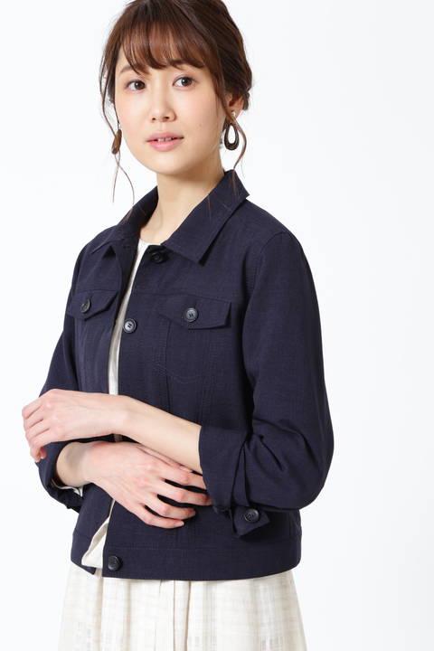 【ドラマ 水沢エレナさん着用】【雑誌 Oggi 5月号掲載】ステンカラーブルゾン