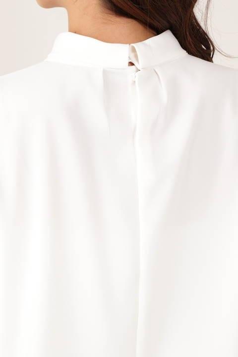 [ウォッシャブル]ノルディスツイスト襟ブラウス