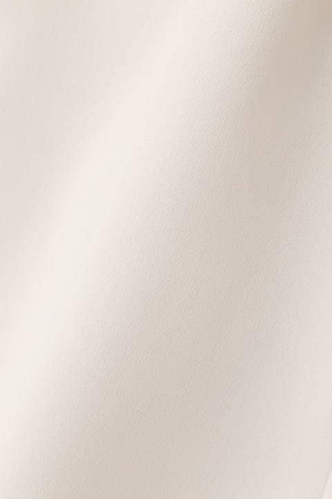 [ウォッシャブル]ポリエステルツイルボウタイブラウス
