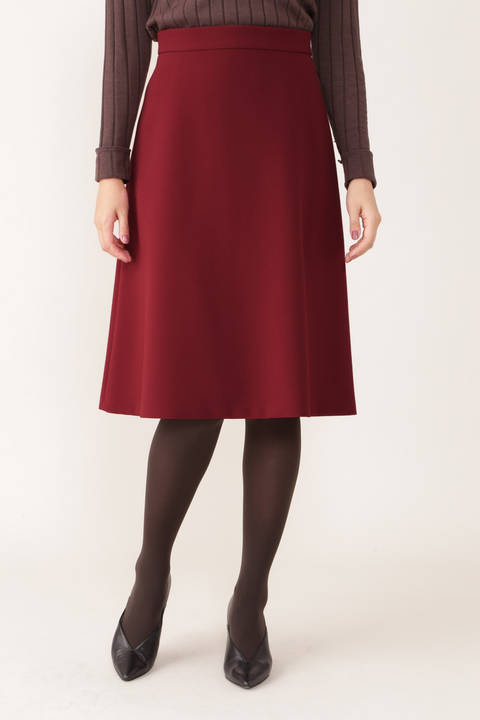 【STORYweb掲載商品】[ウォッシャブル]ストレッチダブルツイルフレアスカート