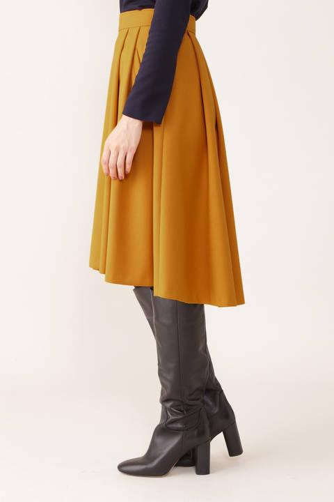 ダブルクロスタックフレアスカート