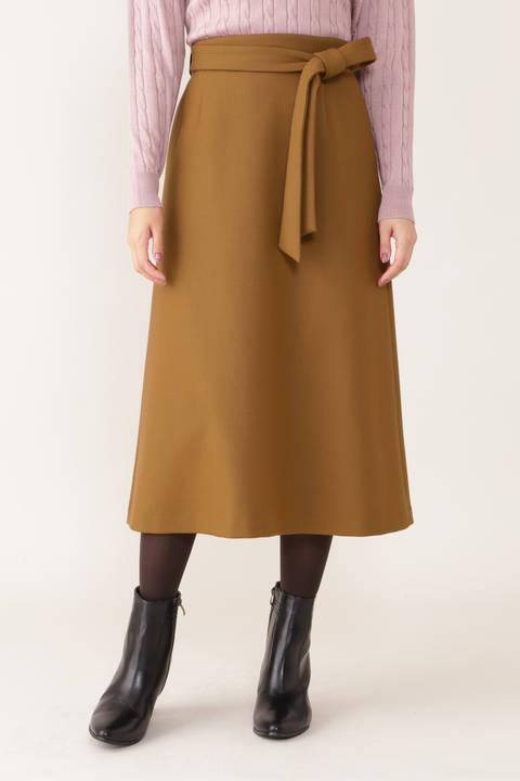 【先行予約 10月中旬-10月下旬入荷予定】二重織ミルドAラインスカート
