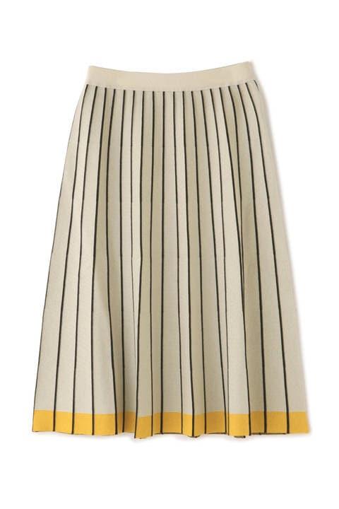 ボーダープリーツスカート