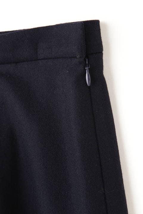 フラノストレッチタックフレアースカート