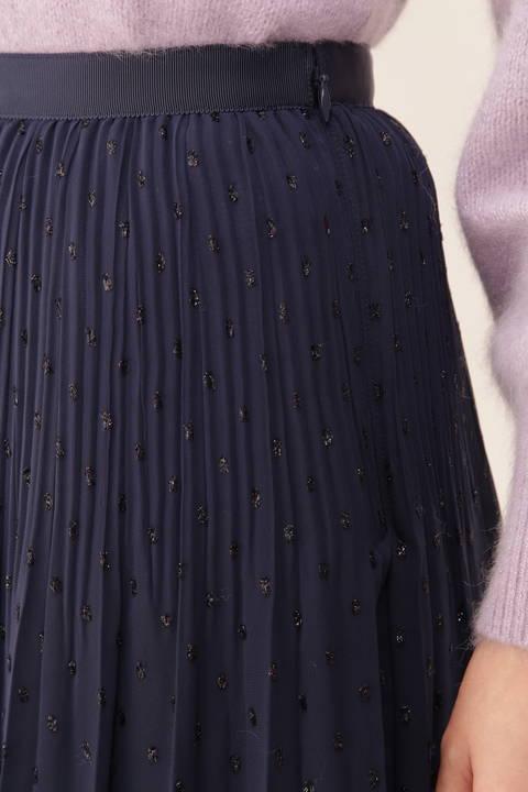ラメドットプリーツスカート