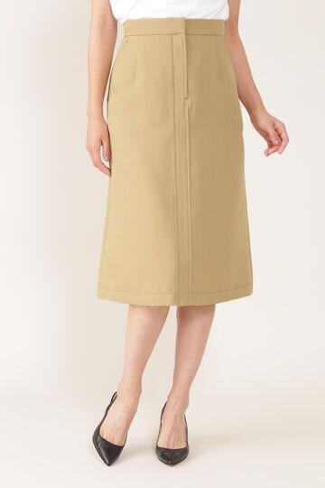 【先行予約 7月中旬-下旬入荷予定】配色ステッチ台形スカート