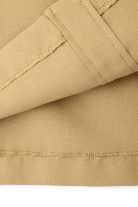配色ステッチ台形スカート