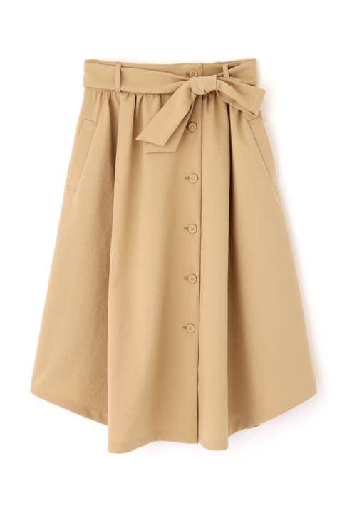[ウォッシャブル]フロントボタンスカート