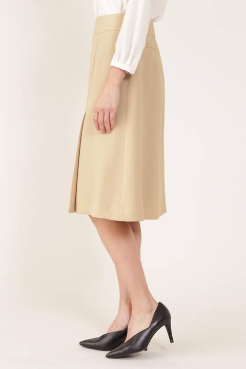 [ウォッシャブル]リラクショントリプルフロントソフトプリーツAラインスカート