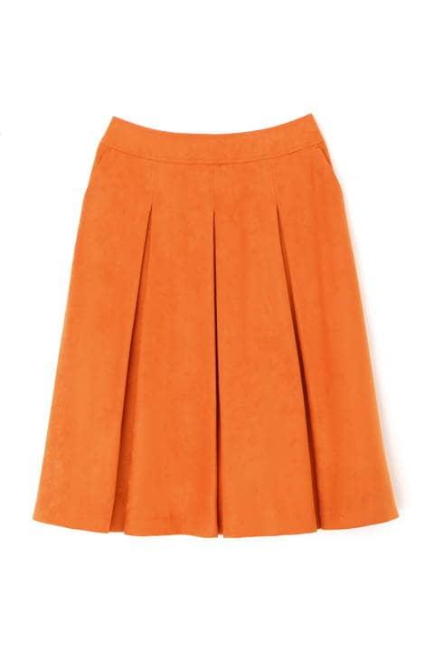 [Jクオリティ]エルモザスエードボックスプリーツスカート