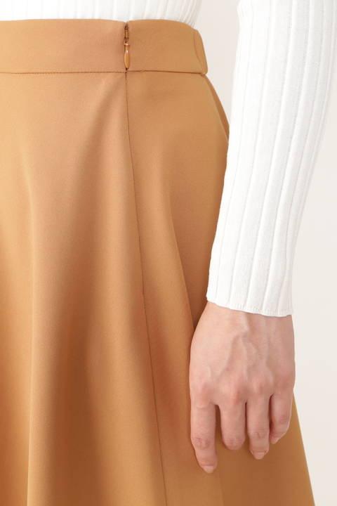 【雑誌 Oggi 11月号掲載】[ウォッシャブル]ダブルクロスフレアーカラースカート