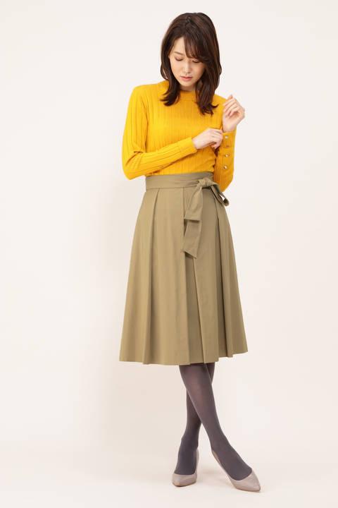 タフタカラースカート