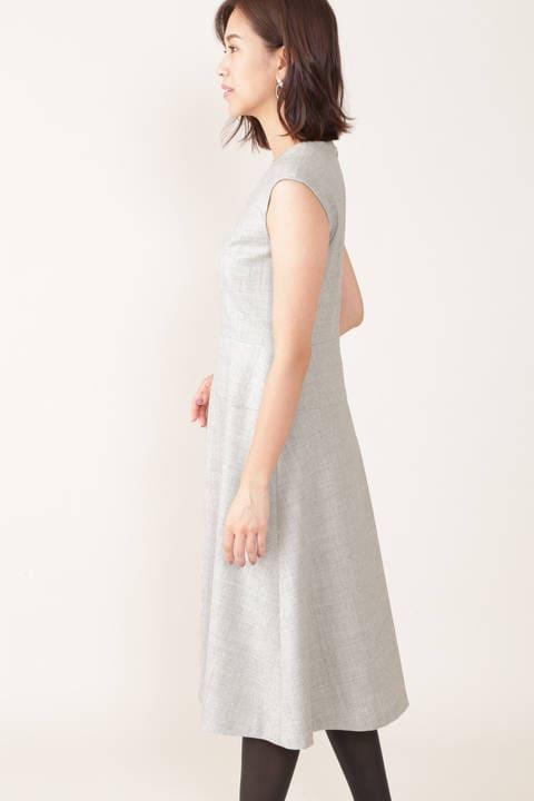 【STORYweb掲載商品】切替ウールワンピース