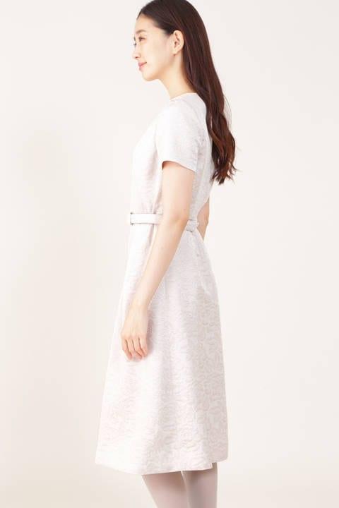 【ドラマ 桜井ユキさん着用】ラメフラワージャカードワンピース