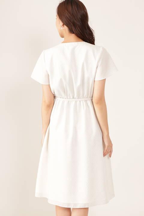 【アナウンサー 小川彩佳さん着用】ジオメトリックプリントワンピース
