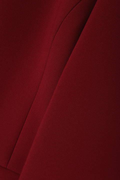 【STORYweb掲載商品】【雑誌 Oggi 11月号掲載】[ウォッシャブル]ストレッチダブルツイルノーカラーV衿ジャケット