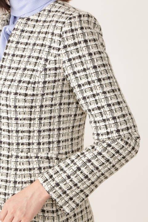【STORYweb掲載商品】キーネックツィードジャケット