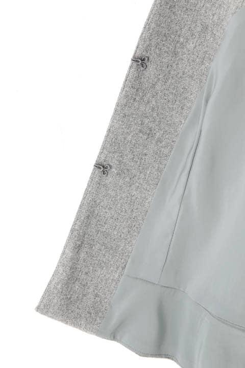 フラノストレッチキーネックペプラムジャケット