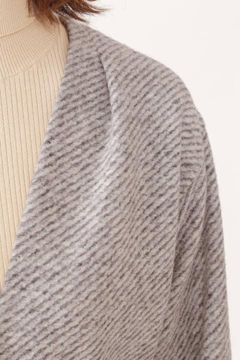 【STORYweb掲載商品】【雑誌 Oggi 11月号掲載】綾目柄ジャージー羽織りコート