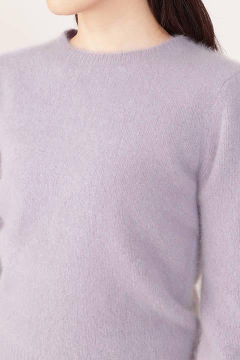 袖デザインラメニット