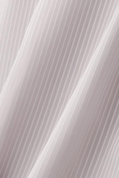 [ウォッシャブル]サテンストライプタックブラウス
