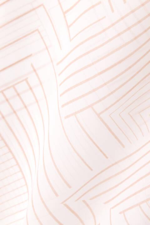 [ウォッシャブル]幾何レイヤードプリントブラウス