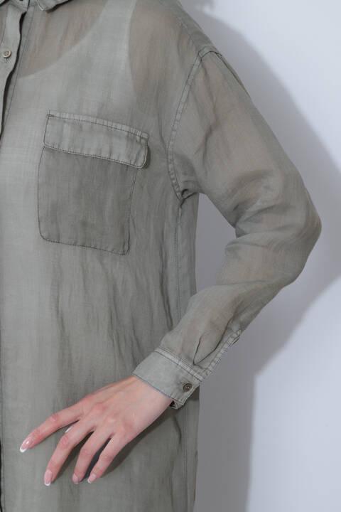 麻ロングシャツ
