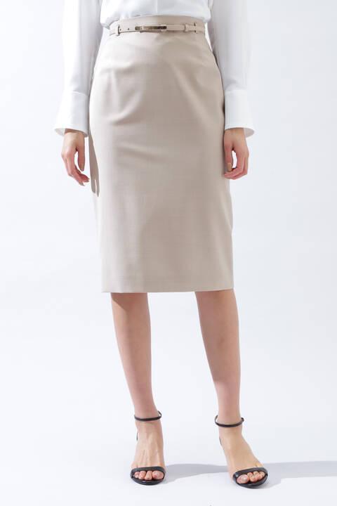 《B ability》ウール2WAYストレッチセットアップスカート