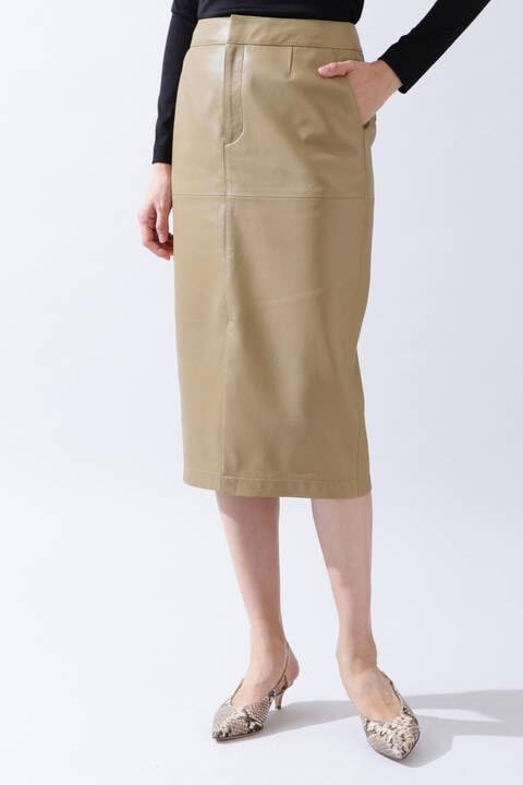 【先行予約 2月中旬-下旬入荷予定】《B ability》レザータイトスカート