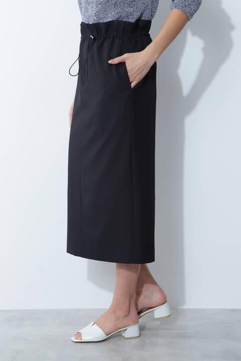 【アナウンサー 徳島えりかさん着用】[ウォッシャブル]ドロストスカート