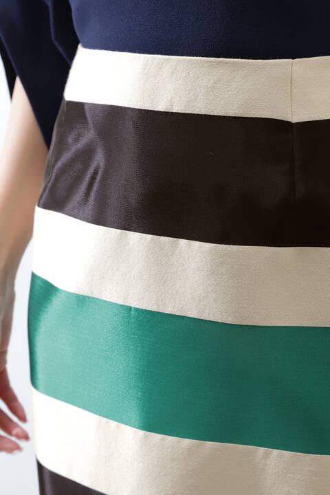 【アナウンサー 加藤綾子さん着用】《B ability》ジャカードボーダースカート